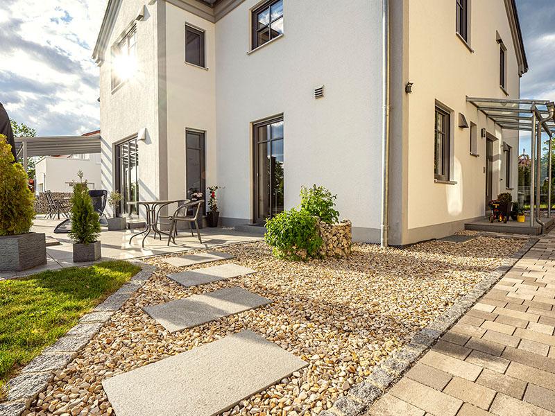 Einfamilienhaus Seidlkreuz   Schlicker Bauunternehmen GmbH, Steingarten, Jurastil